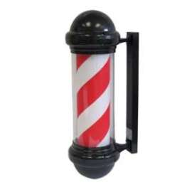 Barber Pole with Red & White Stripe
