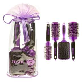 Hair Tools Purple Brush Set