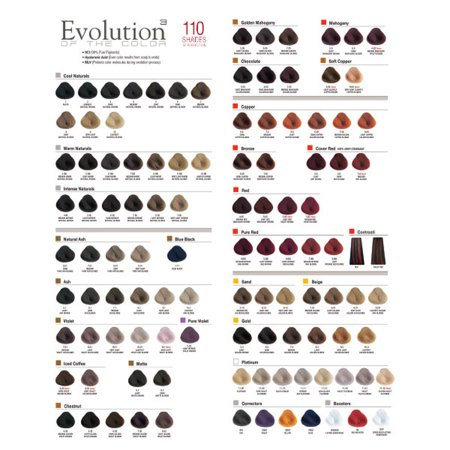 Alfaparf Evolution of Color Shade Chart