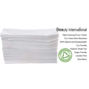 Disposable  Bio Degradable Premium Salon & Barber Face Towel 50 Pack