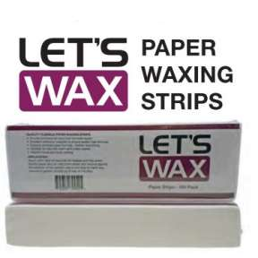 Lets Wax Paper Strips 100 Pack