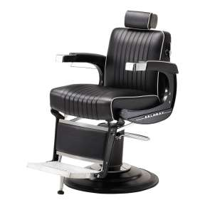 Belmonty Barber chair Black with White Piping