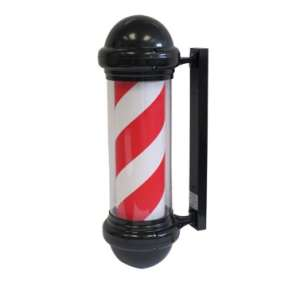 Barber Pole with Black & White Stripe