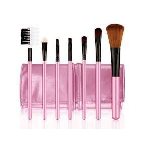 Beauty International Pink 7 Piece Make Up Brush Set