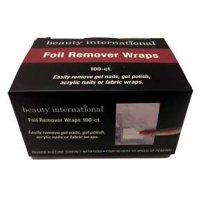 Beauty International Foil Remover Wraps 100 Pack