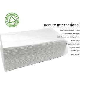 Disposable  Bio Degradable Premium Salon Bath Towels 20 Pack