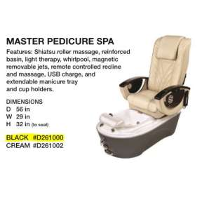 Beauty International The Master Pedicure Spa Black
