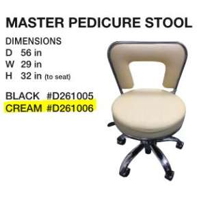 The Master Premium Pedicure Spa Stool Beige